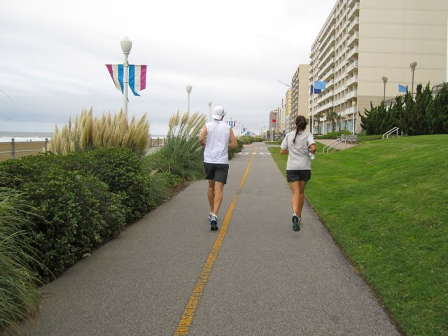 Cruisers Destination Run on the Virginia Beach Boardwalk