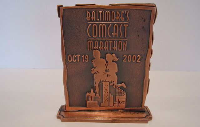 BaltimoreMarathon1stPlaceTrophy
