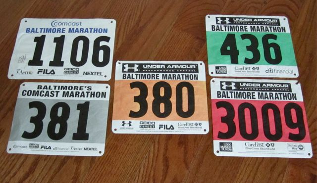 BaltimoreMarathonBibs