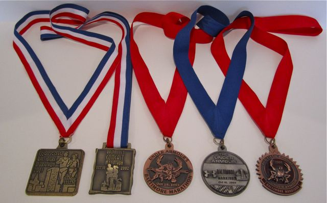 BaltimoreMarathonMedals