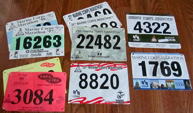 2009, 2008, 2006, 2004, 2003, 2002, 2000, 1999, 1998, And 1997 Marine Corps Marathon Recaps