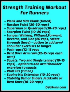 cross training and boot camp workouts  deb runs