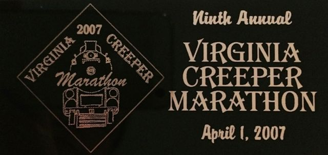 Virginia Creeper Marathon Recap