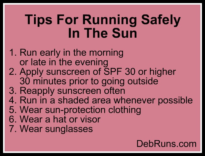 Tips For Running Safely In The Sun