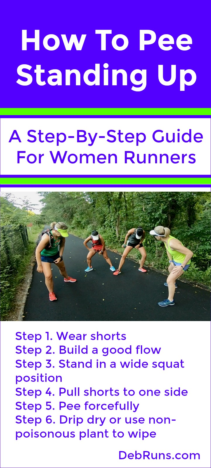How To Pee Standing Up:  A Step-By-Step Guide For Women Runners