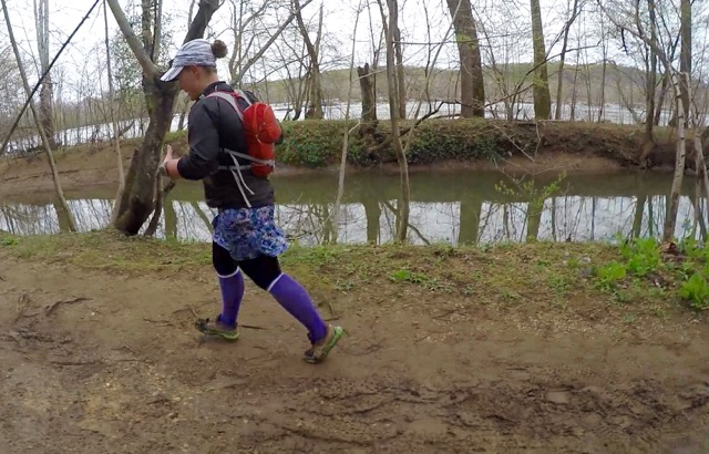 Cheering On North Face Runners During A Muddy Trail Run