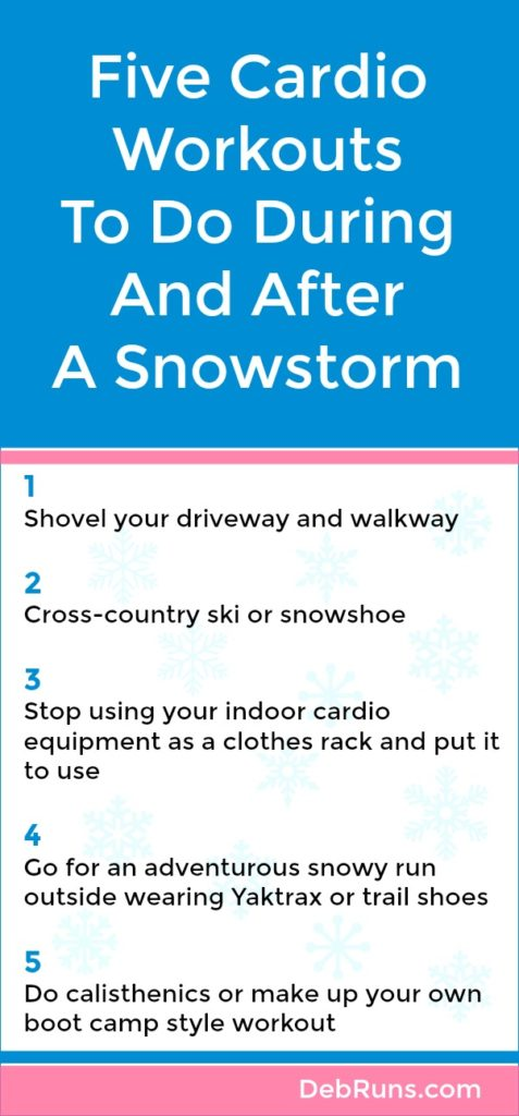Five Cardio Workouts To Do During And After A Snowstorm