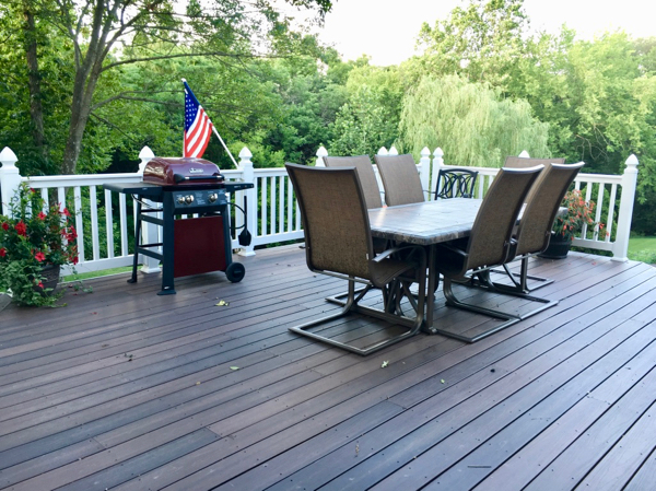 A Marathon Deck Makeover; And Remembering A Warmer Spring