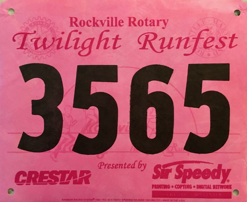 1997 Rockville Rotary Twilight Runfest 8K Race Recap