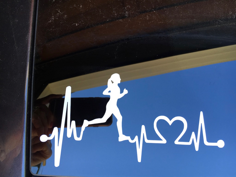 Clear Skies And A Runner Girl Decal