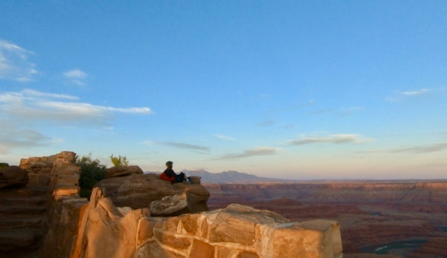Sunset At Dead Horse Point State Park And Our Delightful Encounter With Kamran On Bike