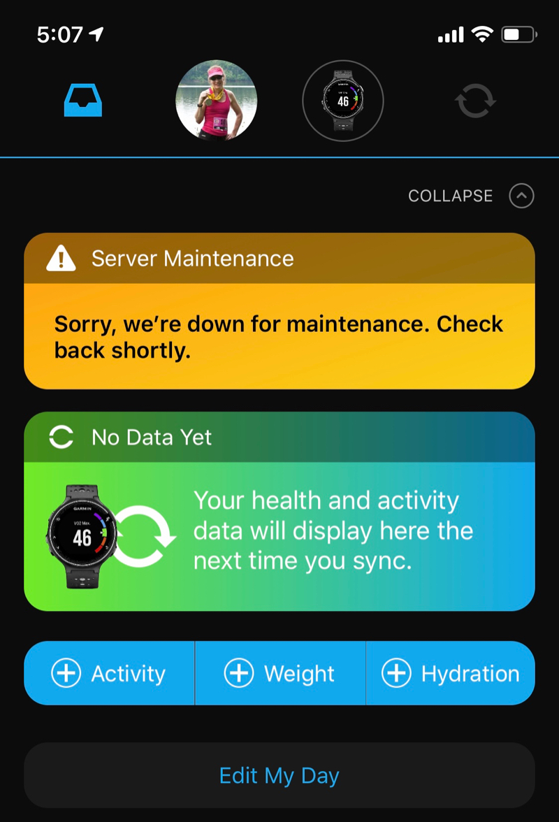 If Garmin is Down, Did You Really Workout?