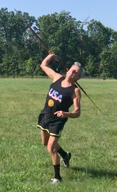 Bernie Stamm, 2020 Virtual World Champion in Javelin